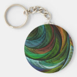 Color Glory Abstract Art Keychain