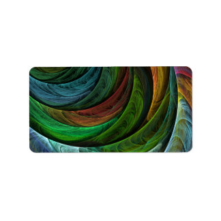 Color Glory Abstract Art Label