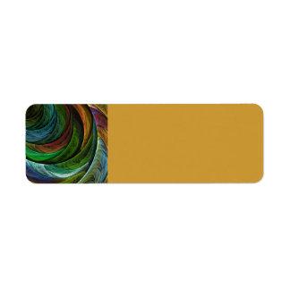 Color Glory Abstract Art Custom Return Address Label