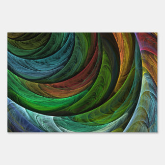 Color Glory Abstract Art Lawn Sign