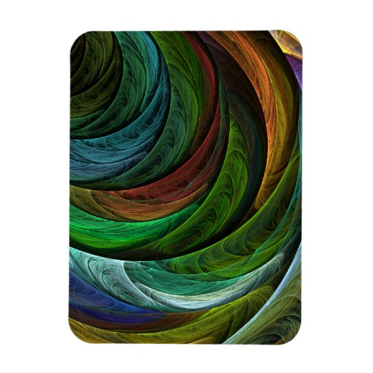 Color Glory Abstract Art Premium Magnet