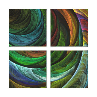 Color Glory Abstract Art Quad Canvas Print