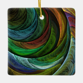 Color Glory Abstract Art Square Ornament