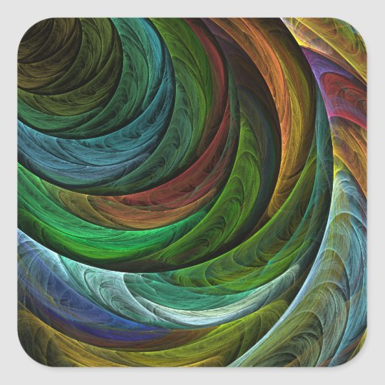 Color Glory Abstract Art Square Sticker