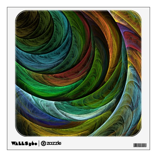 Color Glory Abstract Art Square Wall Sticker