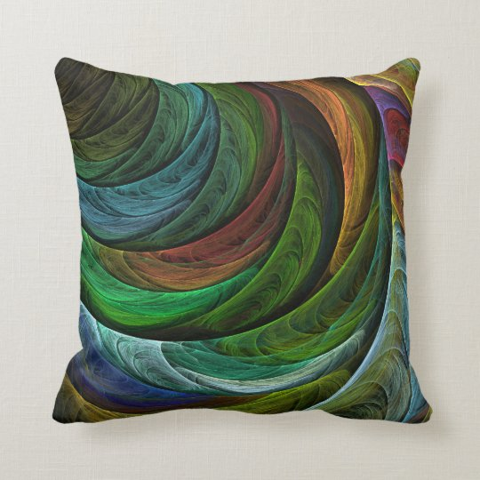 Color Glory Abstract Art Throw Pillow