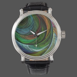Color Glory Abstract Art Watch