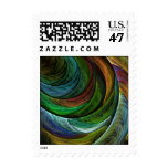 Color Glory Abstract Postage Stamp