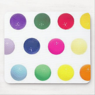 color golf balls mouse pad