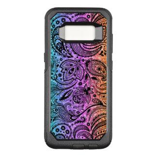 Color Gradient Glitter Texture & Black Paisley OtterBox Commuter Samsung Galaxy S8 Case