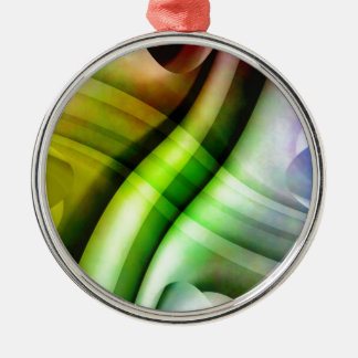 color gradient no 25 by Tutti Round Metal Christmas Ornament