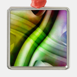 color gradient no 25 by Tutti Square Metal Christmas Ornament