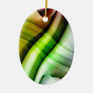 color gradient no 25 by Tutti Double-Sided Oval Ceramic Christmas Ornament