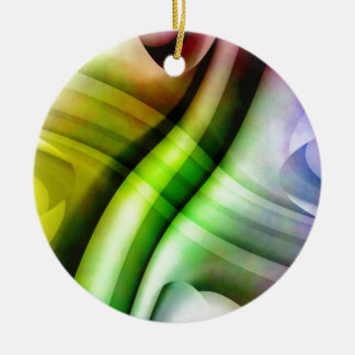 color gradient no 25 by Tutti Double-Sided Ceramic Round Christmas Ornament