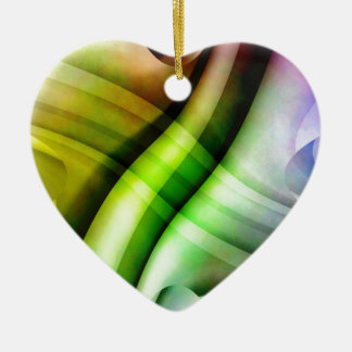 color gradient no 25 by Tutti Double-Sided Heart Ceramic Christmas Ornament