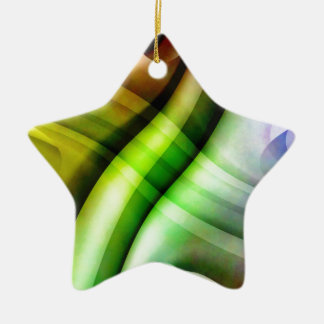 color gradient no 25 by Tutti Double-Sided Star Ceramic Christmas Ornament
