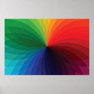 Color Gradient Wheel Print