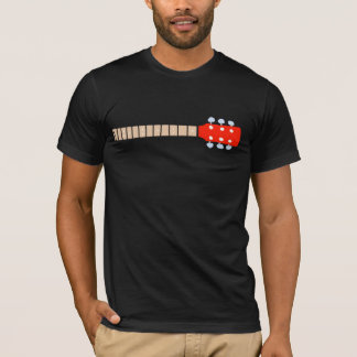 color graphic acoustic guitar neck, cool music T-Shirt