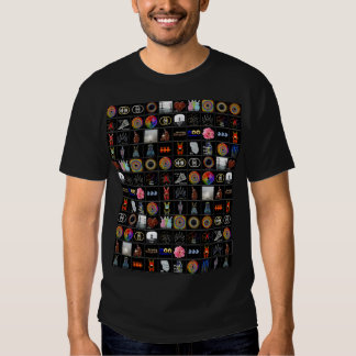 COLOR GRAPHIC CARTOON FUNNY CHARACTERS COLLAGE T-Shirt