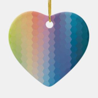 color graphic heagon ceramic ornament