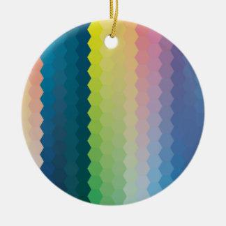 color graphic hexagon ceramic ornament