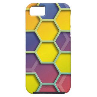 color graphic hexagon iPhone SE/5/5s case