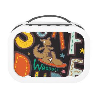 Color: Grey Yubo Lunch Box Woo Hoo Surf Yubo Lunchboxes