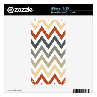 Color gris anaranjado de los diseños geométricos calcomanías para el iPhone 4S
