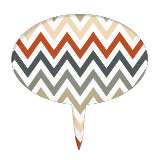 Color gris anaranjado de los diseños geométricos decoración de tarta