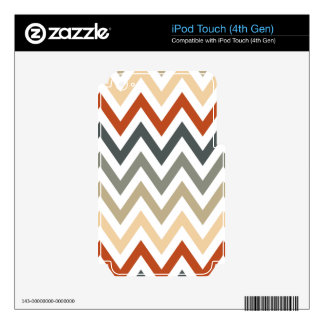 Color gris anaranjado de los diseños geométricos iPod touch 4G calcomanías