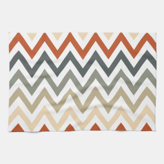 Color gris anaranjado de los diseños geométricos toalla de mano