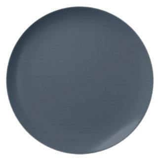 Color gris seguramente ostentoso plato de comida