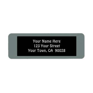 color gris simple etiqueta de remite