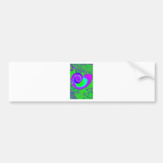 Color growth, nautilus shell bumper stickers