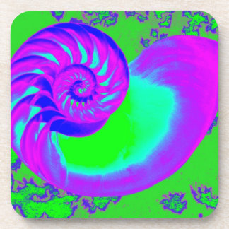 Color growth nautilus shell drink coasters