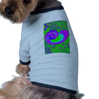 Color growth, nautilus shell doggie t shirt
