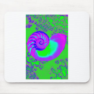 Color growth, nautilus shell mouse pad