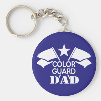 Color Guard Dad Basic Round Button Keychain