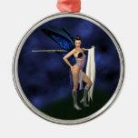 Color Guard Fairy - Round Ornament