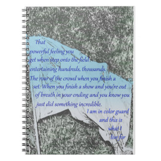 Color Guard Flag Inspiration Notebook