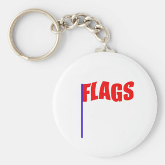 COLOR GUARD, FLAGS, ETC BASIC ROUND BUTTON KEYCHAIN