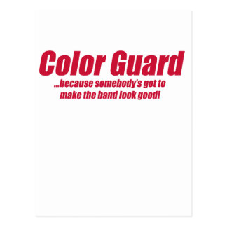 COLOR GUARD, FLAGS, ETC POST CARDS