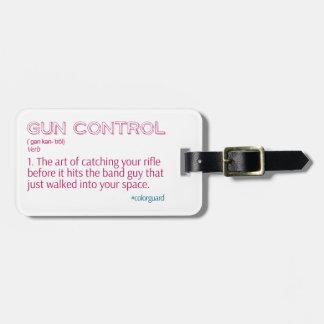 "Color Guard Funny Rifle ""Gun Control"" Tag For Luggage"