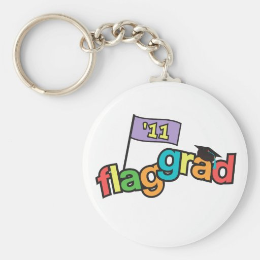 Color Guard Graduate Class of 2011 Basic Round Button Keychain