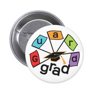 Color Guard Graduate - Graduation Colorful Flags Pinback Button