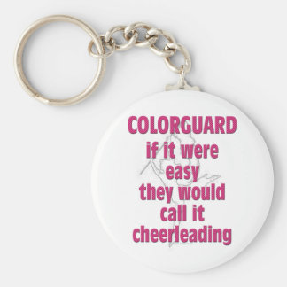 Color Guard: If It Were Easy... Basic Round Button Keychain