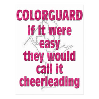 Color Guard: If It Were Easy... Postcard