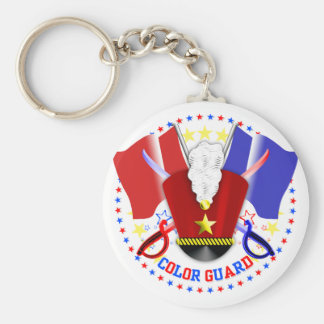 Color Guard Key Ring Basic Round Button Keychain