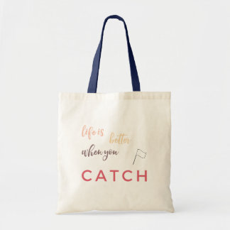 Color Guard: Life Is Better When You Catch Tote Bag