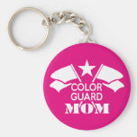 Color Guard Mom Basic Round Button Keychain
